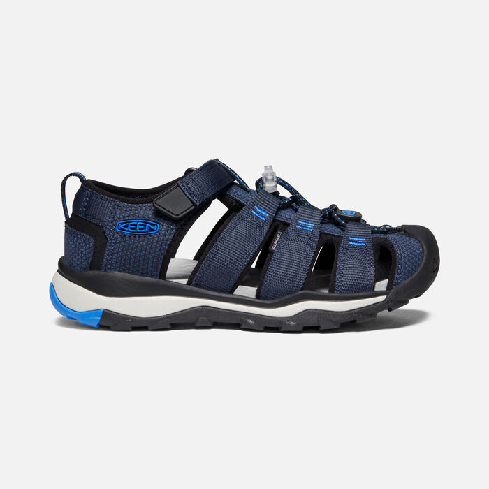 Older Kids' Newport Neo H2 Sandals in Blue Nights/Brilliant Blue - large view.