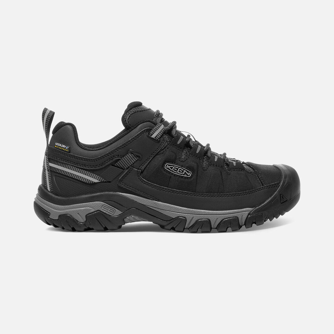MEN'S TARGHEE EXP WATERPROOF HIKING SHOES in Black/Steel Grey - large view.