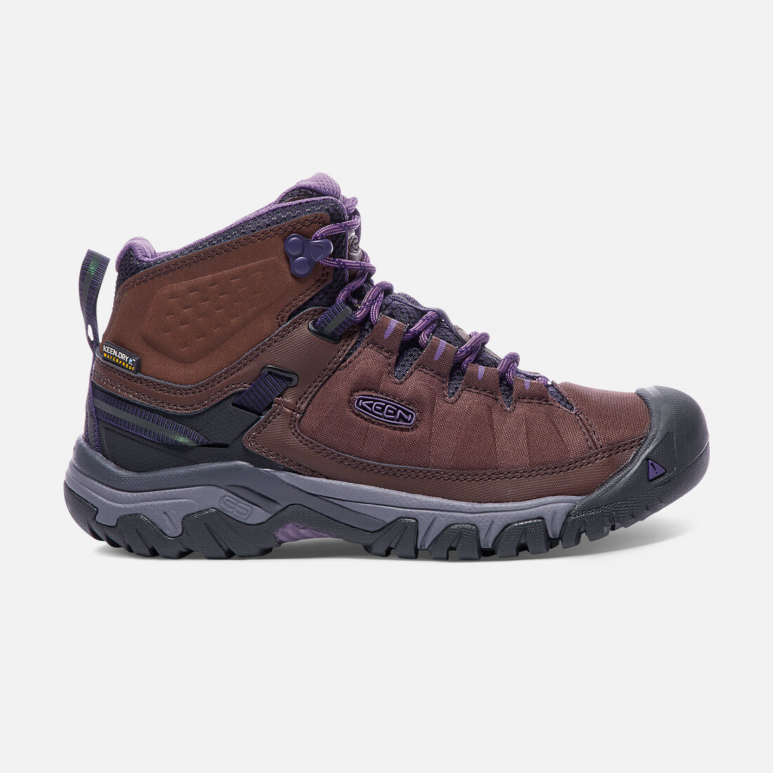 Women's TARGHEE EXP Waterproof Mid in French Roast/Purple Plumeria - large view.