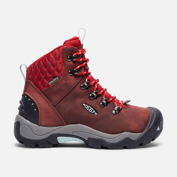 Women's Revel III Hiking Boots in Racing Red/Eggshell - large view.