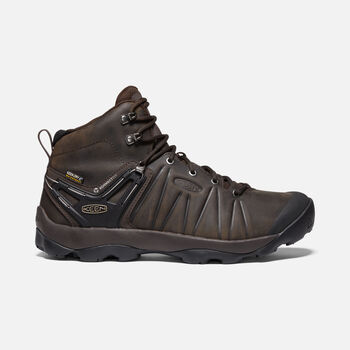 Men's Venture Mid Leather Waterproof Hiking Boots in MULCH/BLACK - large view.