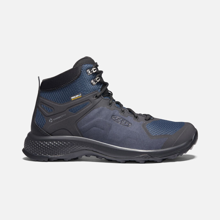 EXPLORE WATERPROOF BOOT POUR HOMME in Blue Nights/Black - large view.