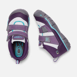 YOUNGER KIDS' PEEK-A-SHOES TRAINERS in Purple Plumeria/Sweet Lavender - small view.