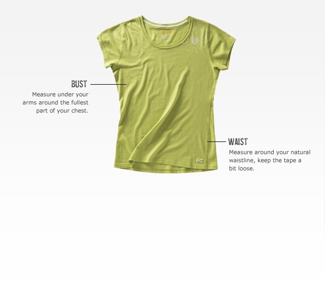 KEEN measuring guide - Women's Tops