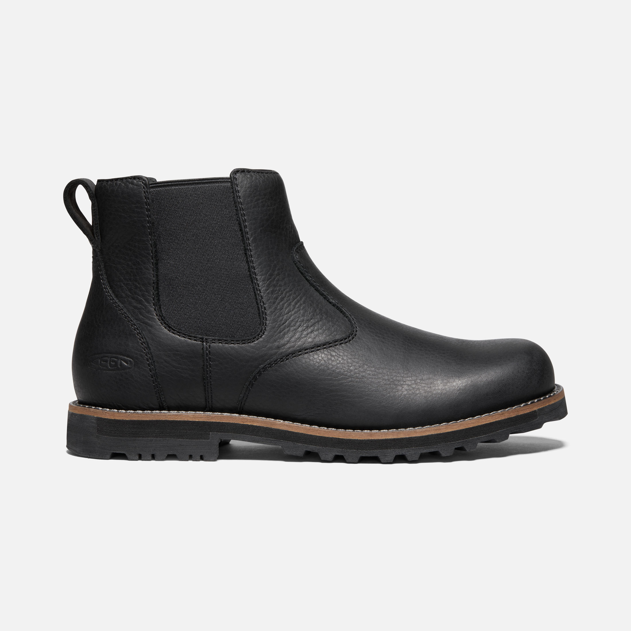 The Ames Men S Leather Chelsea Boots Keen Footwear