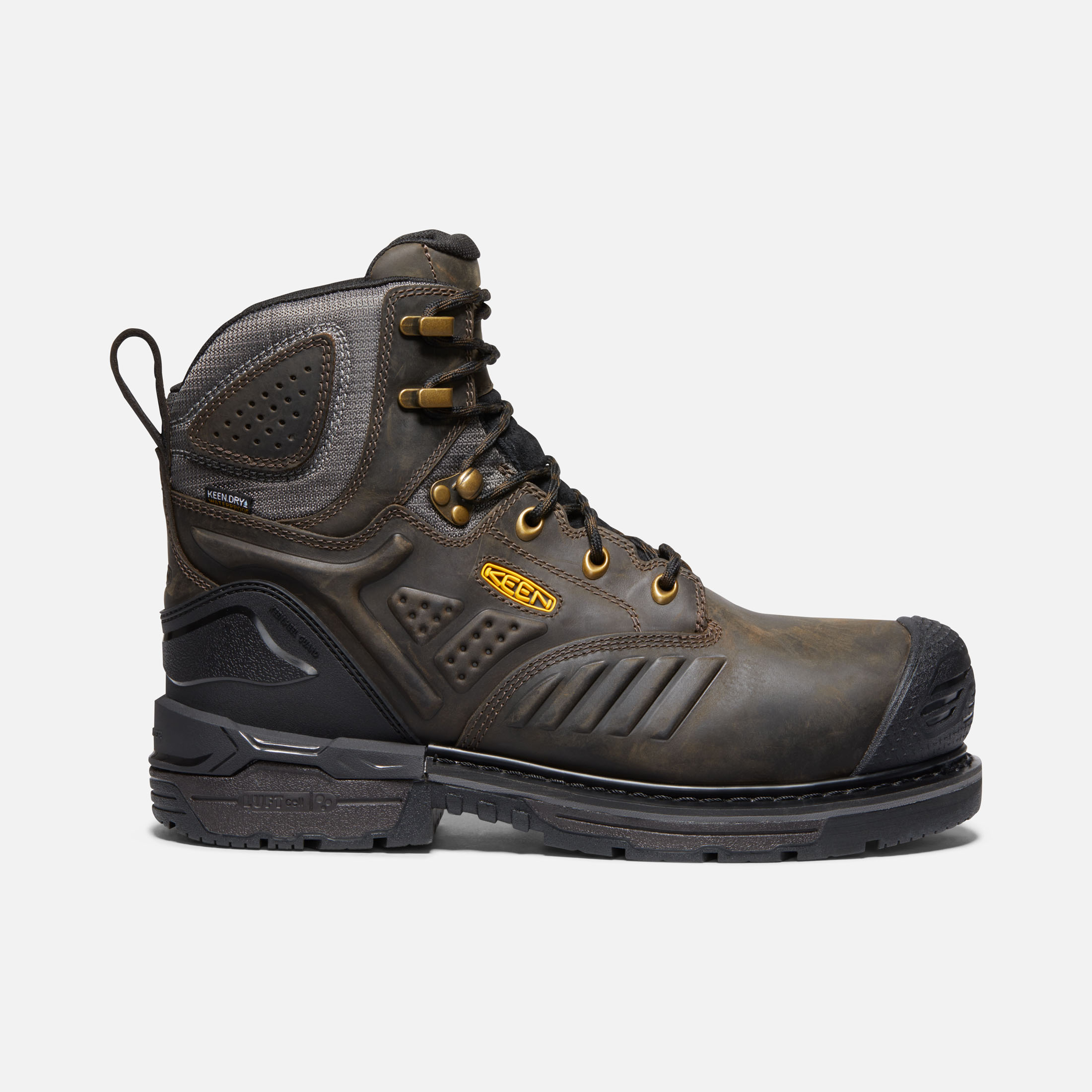 Mens Ankle Boots Safety Leather Lace Up Heavy Duty Dealer Work Shoes Size